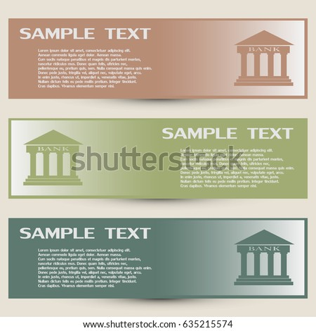 Design Bank Wit.Business Cards Design Bank Building Vector Stock Vector Royalty