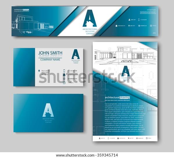 Visitenkarten Design Mit Skizze Für Architekturunternehmen