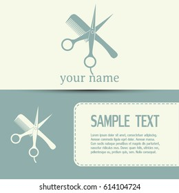 Business cards design Hairdresser icon