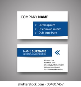 modern creative clean business card design のベクター画像素材