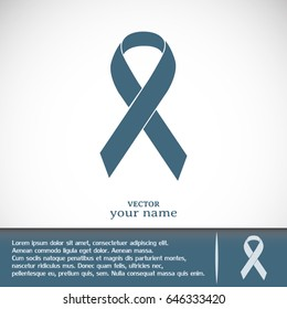 Business cards design. Vector breast cancer ribbon