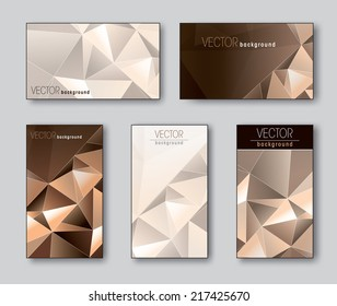 Business Cards or Gift Cards Templates. Eps10.
