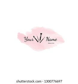 Business cards for makeup artist. Vector