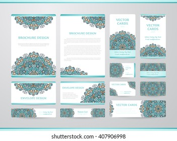 Business cards mandala vector template tribal stock vector 426927439 business cards with mandala vector template tribal theme vintage envelope and brochure collection reheart Gallery