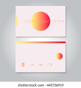 business card template commercial design vector stock vector