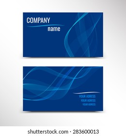 Business cards, template or visiting card set. Vector illustration.