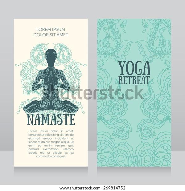 Visitenkarten Vorlage Für Yoga Rückzug Oder Yoga Studio
