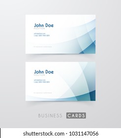 Business cards templates with smooth bright gradiends. Modern abstract background.