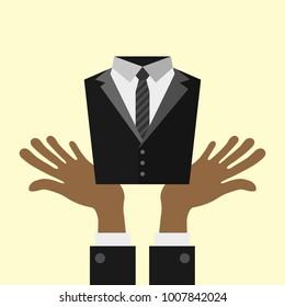 Business career management concept illustration
