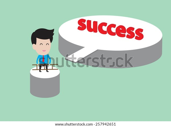 business cartoonbusinessman ladder success stock vector royalty free 257942651 shutterstock