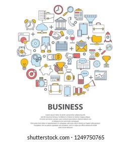 Business centre vector concept. For web site, print design, business card