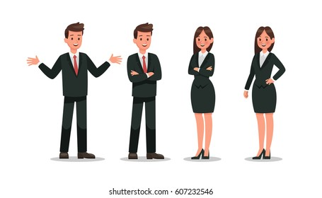 Business character design.