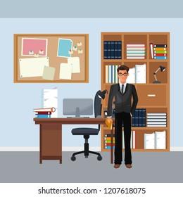 business character in office scenario