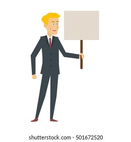 Business character set, Male business cartoon.