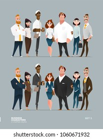 Business Characters Collection in Two Clothes Styles