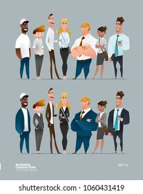 Business Characters Collection in Two Different Modern Clothes Style