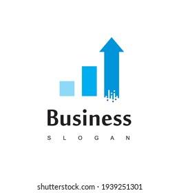 Business Chart  Logo With Grow Up Arrow Symbol