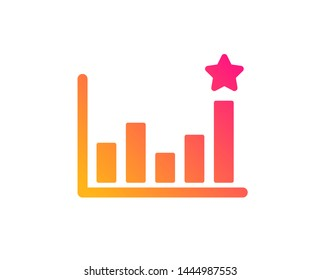 Business chart sign. Analysis graph symbol. Classic flat style. Gradient efficacy icon. Vector
