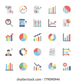 Business Charts and Diagrams Flat Icons 3