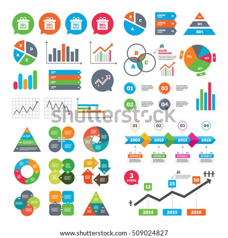 Business Charts Growth Graph Sale Gift Stock Vector Royalty Free