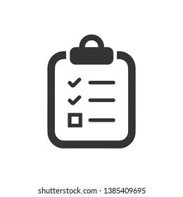 Business checklist, survey, test icon