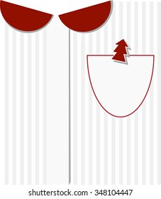 Business christmas greeting card. Women's shirts