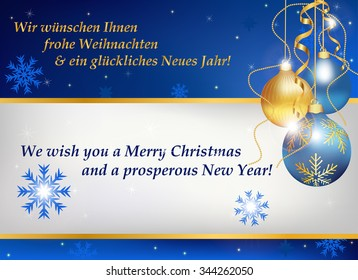 Business christmas new year greeting card stock vector royalty free business christmas and new year greeting card in two languages german and english contains m4hsunfo