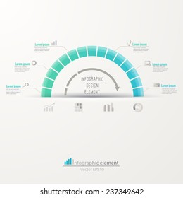 Business circle infographic template. Can be used for work flow layout, diagram, graph, chart. Vector illustration EPS 10