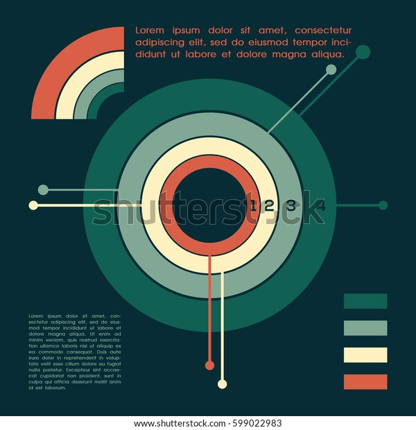 Business circle infographic. Vector illustration