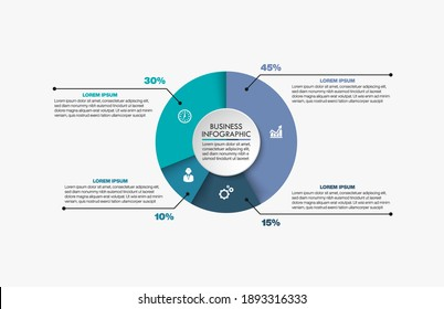 Business circle. timeline infographic with icons designed for abstract background template