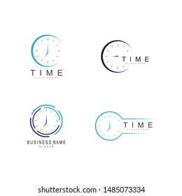 business clock logo template vector icon