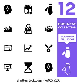 Business collection. Expanded vector icon set