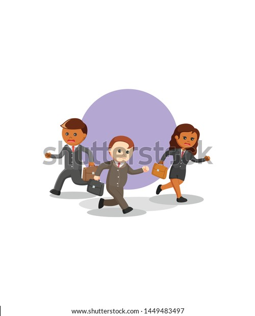 Business Come Home Late Night Due Stock Vector Royalty Free