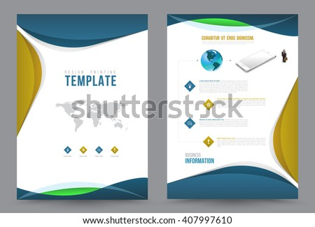 Business communication annual report leaflet brochure stock vector business communication annual report leaflet brochure flyer template a4 size design book cover layout design accmission Gallery