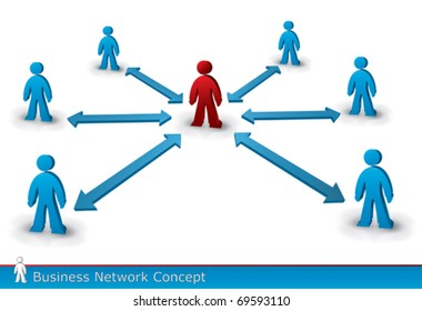 business communication concept in vector format