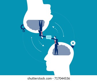 Business communication. Concept business vector illustration.
