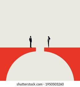 Business communication vector concept. Symbol of relationship, negotiation, agreement. Minimal eps10 illustration