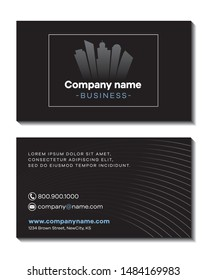 Business company business card template front and back Font is Galyon