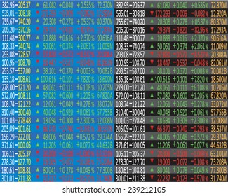 Business company financial balance. Stock Quotes at real time at the stock exchange