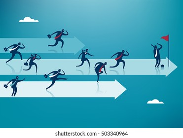 Business Competition. Business vector concept illustration