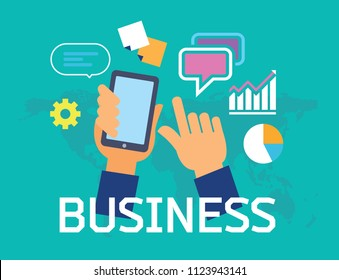 Business concept banner - infographics set