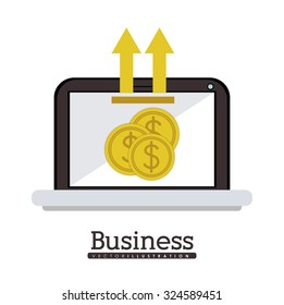 Business concept with coin design, vector illustration eps 10
