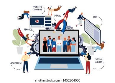 Business Concept of Digital and Social Media Marketing, SMM.