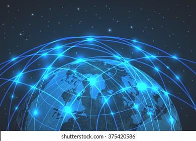 Business concept earth Internet globalization. Vector illustration design