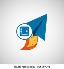 business concept. finance safe start up graphic vector illustration