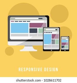 Business Concept Flat Design for Responsive Design