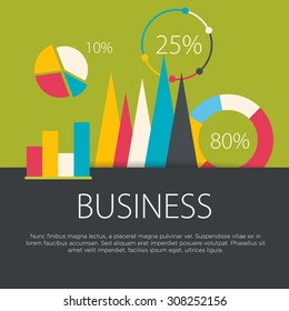 Business concept in flat design. Vector illustration.