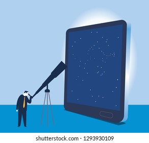 Business concept. Flat vector illustration. - Vector