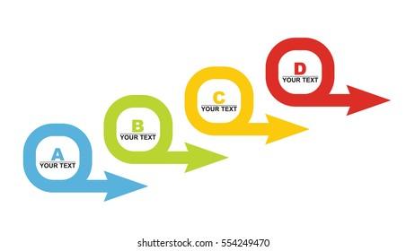 Business concept - flow chart with copy paste text