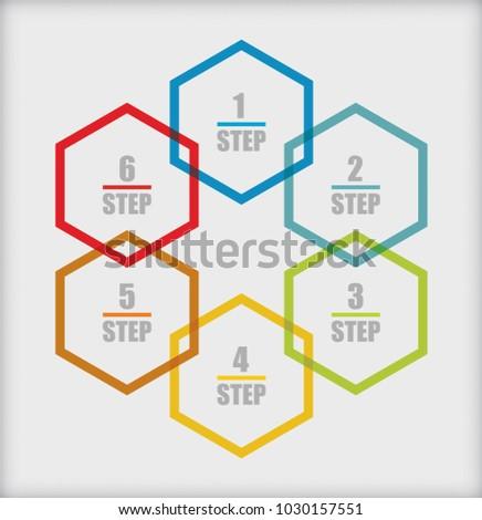 Business Concept Flow Chart Template Presentation Stock Vektorgrafik